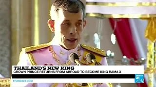 Download Thailand: Crown prince returns from abroad to become king Rama X Video