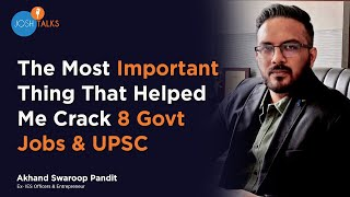 Download From Failure to Success: My Journey of Clearing UPSC   IES Akhand Swarup   Josh Talks Video