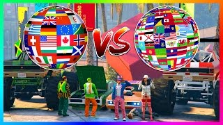 Download GTA ONLINE USA VS CANADA VS THE WORLD - WHICH COUNTRY IS THE GREATEST OF ALL TIME IN GTA 5! (GTA V) Video