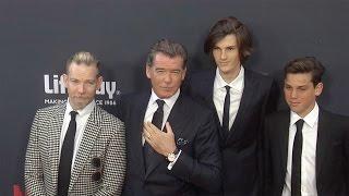 Download Pierce Brosnan with Sons Sean, Dylan & Paris // ″No Escape″ Los Angeles Premiere Red Carpet Video