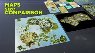 Download Video game maps size comparison Video