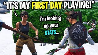 Download I met the biggest FAKE NOOB on Fortnite... (HE LIED TO ME 10 TIMES!) Video