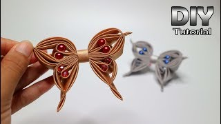Download DIY || How to make kanzashi butterfly | Kanzashi Flower satin ribbon | Bros kupu kupu pita 4 cm Video