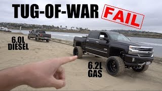 Download DIESEL VS. GAS TRUCK TUG-OF-WAR FAIL! Video