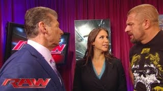 Download Raw - Mr. McMahon gives Triple H his match with Curtis Axel but The Game doesn't want it: June 10, 2013 Video