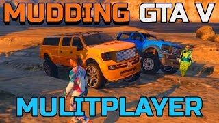 Download GTA V | PC | MULTIPLAYER MUDDING WITH THE SANDKING | CUSTOM TRUCKS Video
