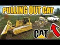 Download FARMING SIMULATOR 2017 | PULLING OUT STUCK CAT EQUIPMENT WITH DIESELS! | F-650 + DODGE 3500 Video