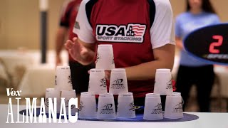 Download The incredible sport of cup stacking, explained Video