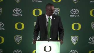 Download Willie Taggart makes opening statement as Oregon Ducks head football coach Video