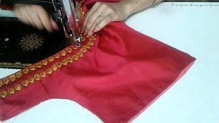Download very simple blouse back neck design cutting and stitching Video
