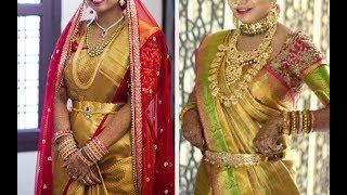 Download Gold Silk Kanchipuram Bridal Pattu Sarees Latest Collection - Part 2. Video