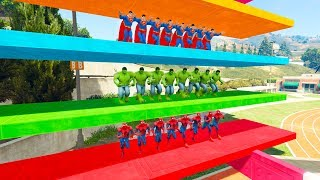 Download SUPERHERO RUNNING with obstacles competition Learn Numbers and colors for kids Video