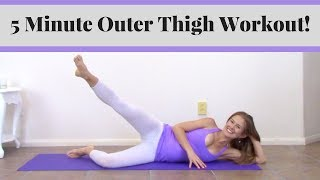 Download Outer Thigh Exercises - 5 Minute Outer Thigh Workout! Video