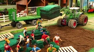 Download RC TOYS IN ACTION - A new Lawn on the farm made by RC TRACTORS Video