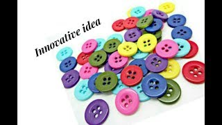 Download Innovative idea with buttons | jewellery tutorials Video