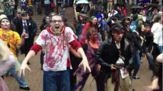 Download Michael Jackson Thriller Zombie dance Vancouver flash-mob 2012 Video