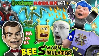 Download GOOSEBUMPS vs. Spongebob in ROBLOX + FORTNITE helps Chase in BEE SWARM SIMULATOR Again Pt.2 (#47) Video