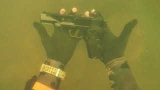 Download Found ″Gun″ Underwater in River While Scuba Diving for Lost Valuables! (Dangerous Diving Spot) Video