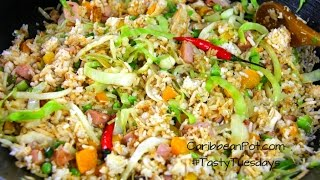 Download Quick Ham And Turkey Fried Rice #TastyTuesdays | CaribbeanPot Video