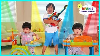 Download Ryan Emma and Kate Pretend Play Starting a Band!!! Video