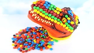 Download Coloring Dinosaurs Fun Learn Colors Kids T Rex Dinosaur Toy - M&M's Challenge - 티라노사우르스 공룡 M&M 색깔놀이 Video