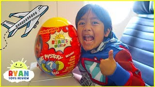 Download Ryan Opening Giant Surprise Egg Toy on the airplane!!! Video