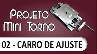 Download Mini torno - Carro de ajuste transversal e longitudinal Video
