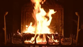 Download Bright Burning Yule Log Fireplace with Crackling Fire Sounds (HD) Video