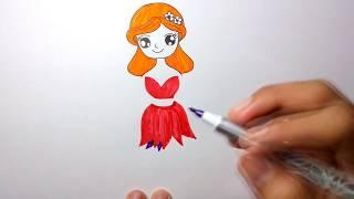 Download วาดรูปนางฟ้า บาบี้ ด้วยปากกาและสีเมจิก Video