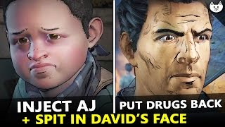 Download Inject AJ VS Put Drugs Back + SPIT IN DAVID'S FACE! -( The Walking Dead Season 3 Episode 3 Choices ) Video