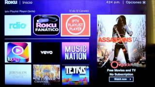 Download Como desgargar las Aplicaciones IPTV Play List Player y Fanatico en tu Roku Video