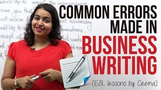Download Common errors made in Business Writing ( Business Emails & Letters) - Business English Lesson Video
