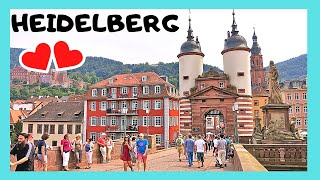 Download EXPLORING The historic city of HEIDELBERG, a walking tour (GERMANY) Video