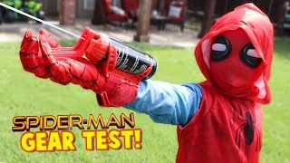 Download Spider-Man Homecoming Movie Gear Test! Real Web Shooters for Kids! Toys Review by KIDCITY Video