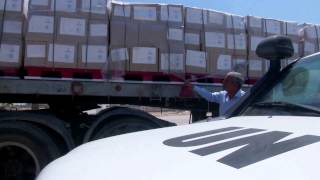 Download WFP Convoy Delivers Food Assistance To Gaza Via Rafah Crossing Video