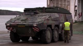 Download Dutch equipment arrives in Lithuania - B-Roll Video