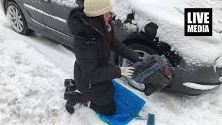 Download Αντιολισθητικά πανιά χιονιού Video