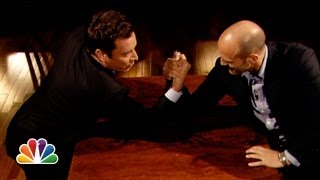 Download Jimmy Fallon and Jason Statham Arm Wrestle (Late Night with Jimmy Fallon) Video