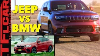 Download Is the 707 HP Jeep Trackhawk Faster Than The BMW X6 M? Hot or Not Review Video