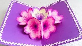Download DIY 3D flower POP UP card Video