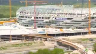 Download Die Bauphase der Allianz Arena im Zeitraffer Video