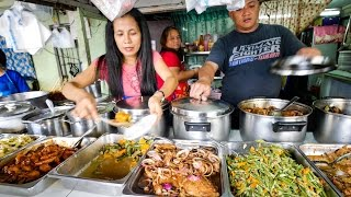 Download Philippines Street Food - AMAZING Filipino Food at Aling Sosing's Carinderia in Manila! Video