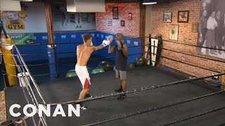 Download EXCLUSIVE: Justin Bieber's Boxing Lessons With Floyd Mayweather - CONAN on TBS Video