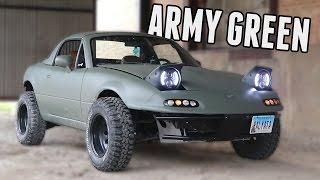 Download Rally Miata Gets Plasti-Dipped Army Green! Video
