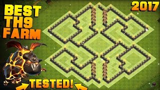 Download Clash of Clans | No.1 BEST TH9 FARMING BASE 2017 + PROOF | CoC NEW Town Hall 9 Base with Bomb Tower Video