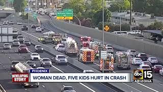 Download Woman dead, kids hospitalized after I-17 crash Video