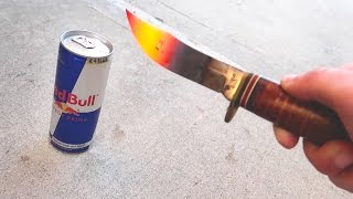 Download 1000 DEGREE KNIFE VS REDBULL! (EXPLODES) Video