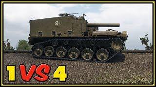 Download M44 - 10 Kills - 1 VS 4 - World of Tanks Gameplay Video