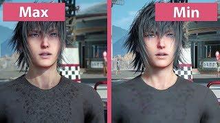 Download [4K] Final Fantasy XV – PC Min vs. Max Graphics Comparison & Frame Rate Test Video