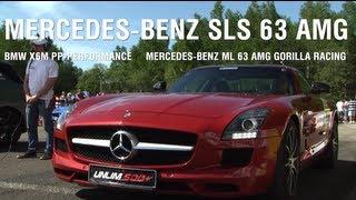 Download Mercedes-Benz SLS 63 AMG vs BMW X6M PP-Perfprmance vs Mercedes ML63 AMG Gorilla Racing Video